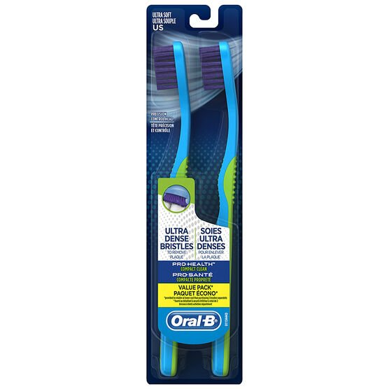 Oral-B Pro-Health Compact Clean Toothbrush - Ultra Soft - 2's