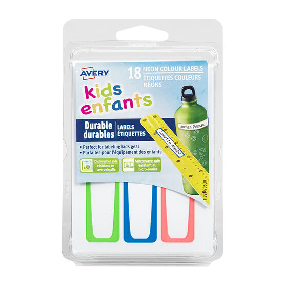 Avery Durable Kids Labels - 18 pack