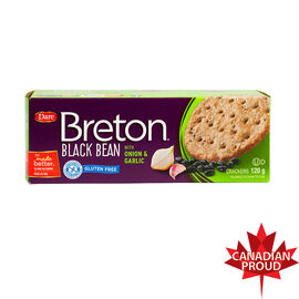 Breton Black Bean Gluten Free Crackers - Onion & Garlic - 120g