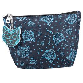 Modella Skull Kitty Purse with Nail File - Blue - A005116LDC