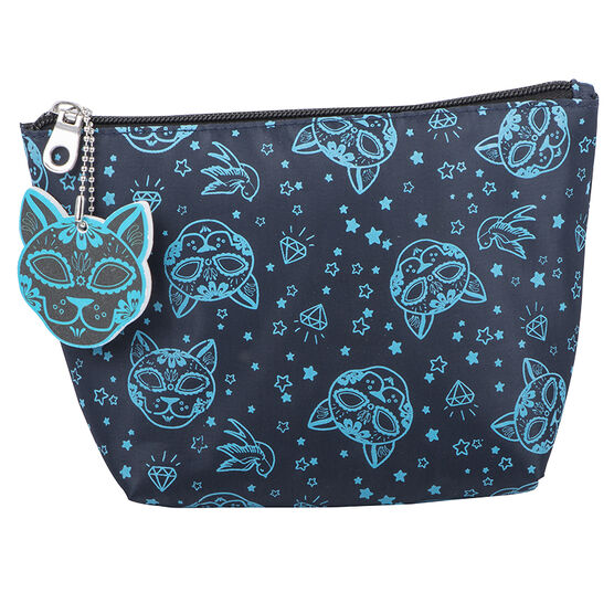 Modella Skull Kitty Purse with Nail File - Blue - A005116LDC