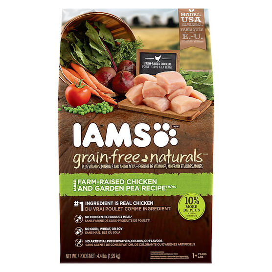 IAMS Healthy Naturals Adult Dog Dry Food - Chicken/Pea - 2kg