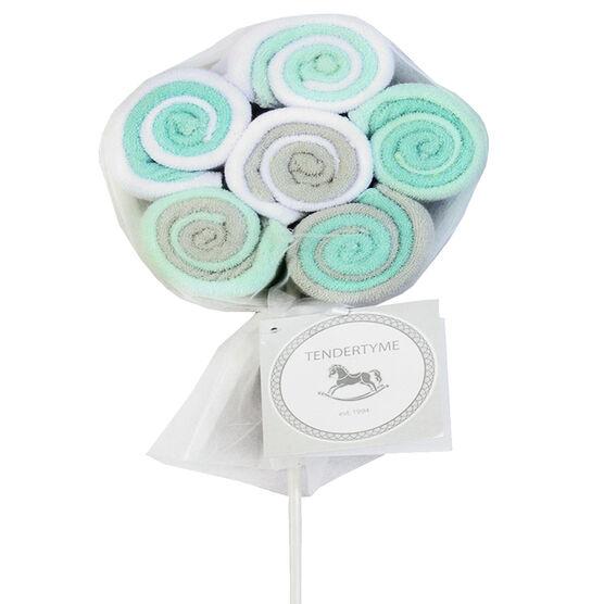Tendertyme Lollipop Washcloths - 12 pack - Blue