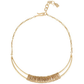 Robert Lee Morris Wire Wrapped Frontal Necklace - Bronze/Gold Plated