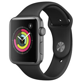 Apple Watch Series 3 - GPS -42mm - Space Grey/Black Sport Band  - MTF32CL/A