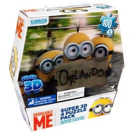 Minions Super 3D Hexbox - 4 Piuzzle Pack