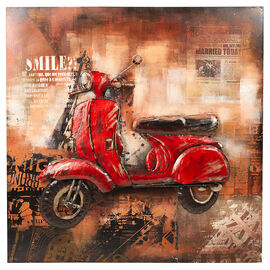 London Drugs Metal Print - Scooter - 100 X 100 X 7cm