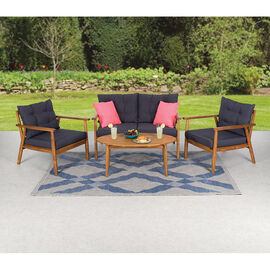 Brema Caribbean Acacia Wood Patio Set - 4 piece