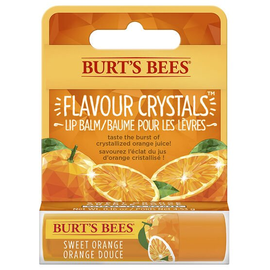 Burt's Bees Flavour Crystals Lip Balm - Sweet Orange - 4.25g
