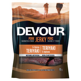 Devour Pork Jerky - Five Spice Teriyaki - 70g