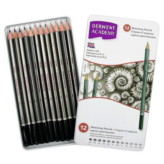 Derwent Academy Sketch Pencils - 12's