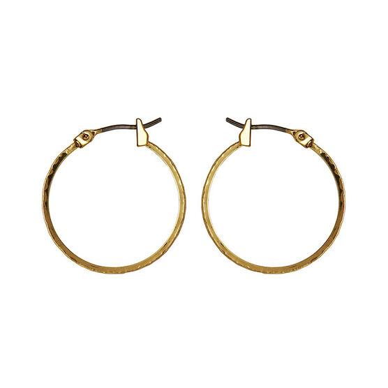 Anne Klein Small Leaf Hoop Earrings - Gold