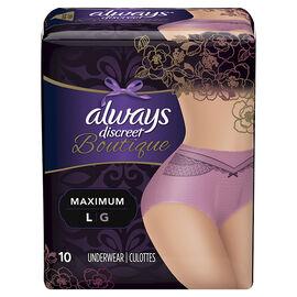 Always Discreet Boutique Underwear Maximum - Large - 10's