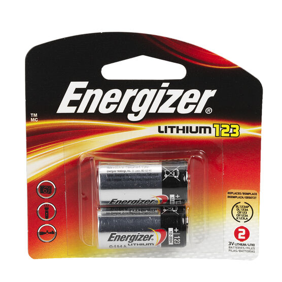 Energizer 3V Lithium Battery 2pack EL123