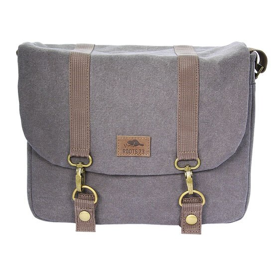 Roots 73 RG25 Flannel Collection Messenger Bag - Grey - RG25