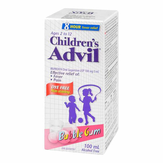 Advil Children's Suspension - Bubble Gum - 100ml
