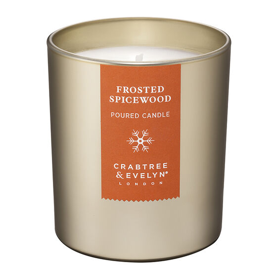 Crabtree & Evelyn Frosted Spicewood Poured Candle - 200g
