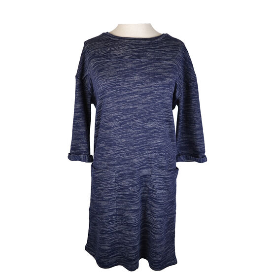 Lava 3/4 Sleeve Dress with Pockets - Navy