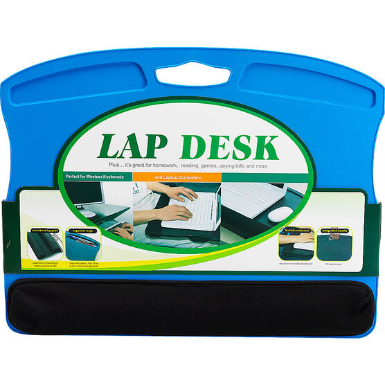 Lap Desk With Microbead Wrist Rest Blue London Drugs