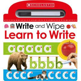 Scholastic Early Learners: Write & Wipe Learn to Write