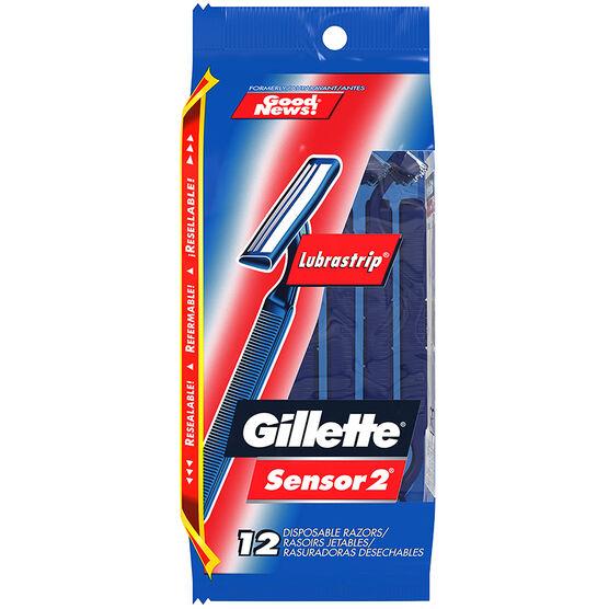 Gillette Sensor2 Razors - 12's