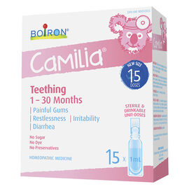 Boiron Camilia Teething Pain Relief - 15 x 1ml