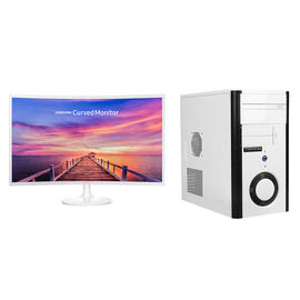 Certified Data Intel i5-8400 with Samsung LC32F391 32inch Curved Monitor - PKG #13829