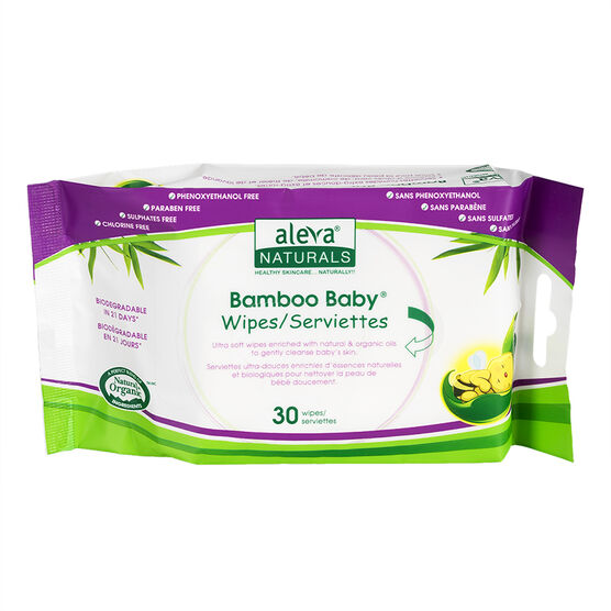 Bamboo Baby Wipes - 30's