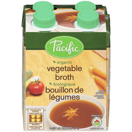 Pacific Vegetable Broth - 4 x 250ml