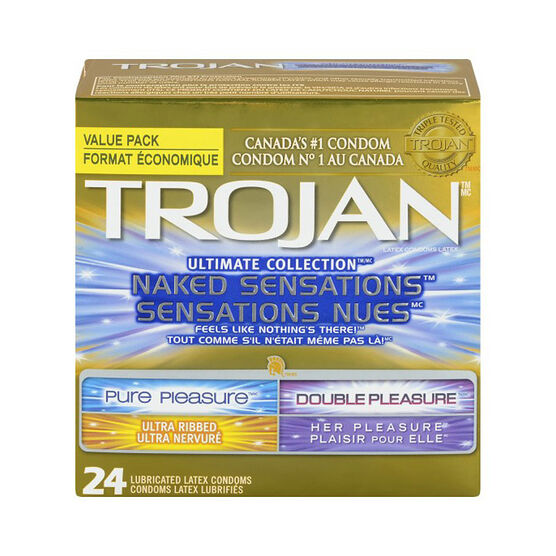 Trojan Naked Sensations Condoms - Ultimate Collection - 24's