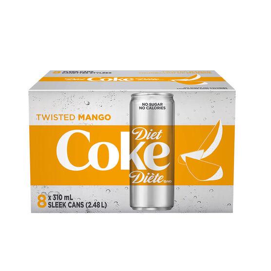 Diet Coke - Twisted Mango - 8 x 310ml