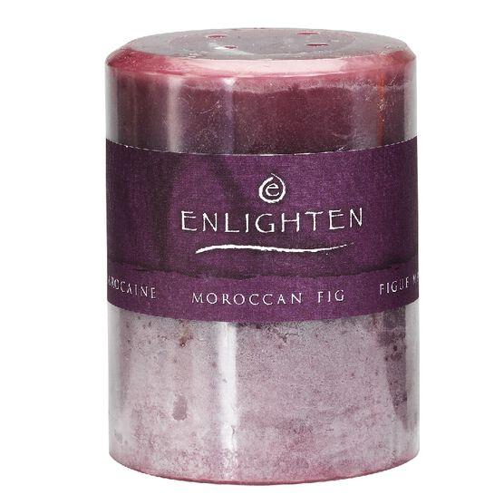 Enlighten Pillar Candle - Moroccan Fig - 3x4 inch