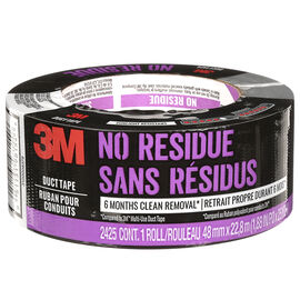 Scotch No Residue Duct Tape - Black - 2425-HD