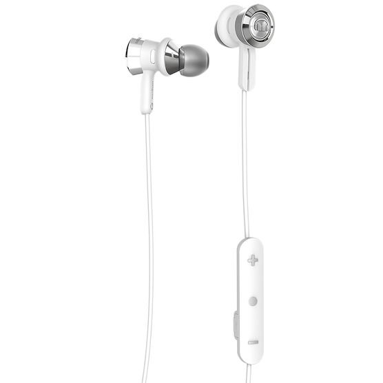 Monster Clarity Bluetooth In-Ear Headphones - White/Chrome - MHCLYIEWHCRBTWW