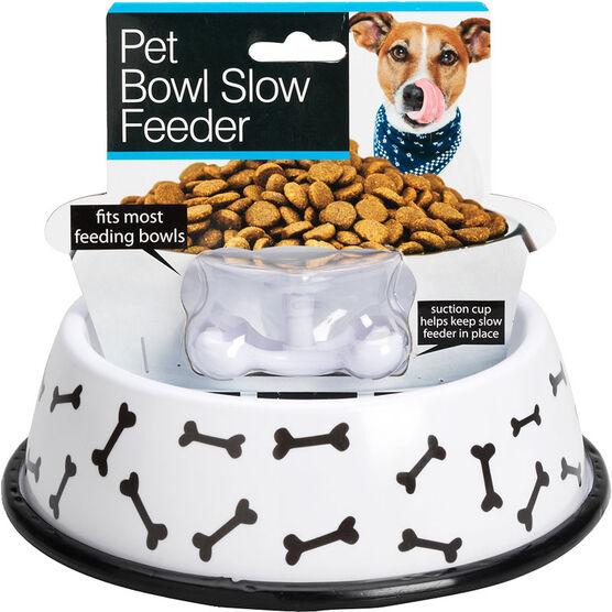 "London Drugs Pet Bowl with Slow Feeder - Bones - 8"""