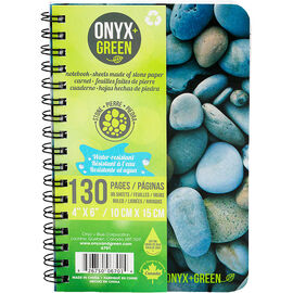 Onyx + Green Water-Resistant Coil Notebook - 130 pages