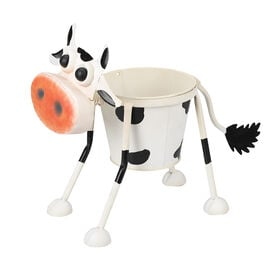 Hand Craft Metal Planter - Cow