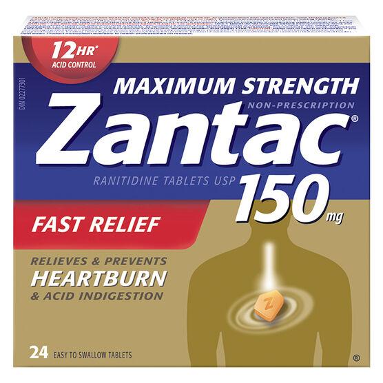 Zantac Maximum Strength - 150mg - 24's