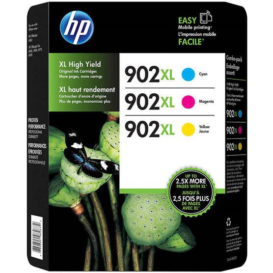 HP 902XL High Yield Original Ink Cartridges - Cyan/Magenta/Yellow - 3 pack - T0A41BN