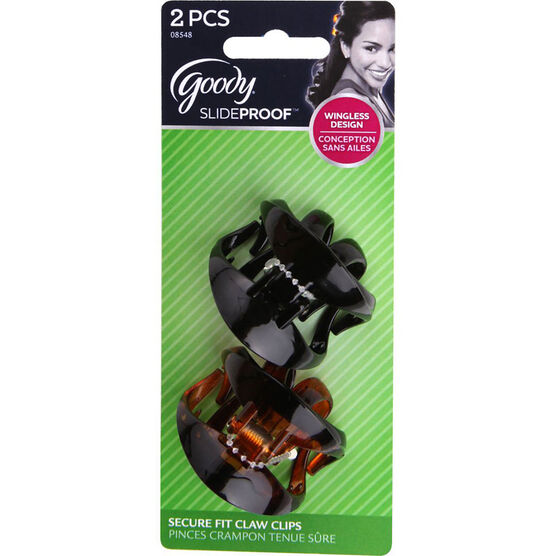 Goody Slideproof Secure Fit Claw Clips - Small - 2's
