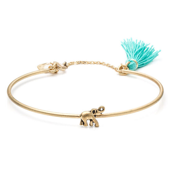 Lonna Lilly Elephant Bangle Bracelet - Blue