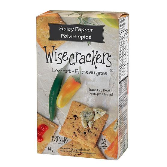 Wisecrackers Crackers - Spicy Pepper - 114g