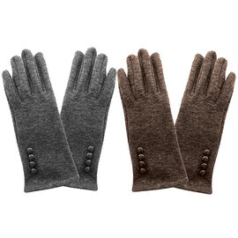 Simon Chang Ladies Gloves with Buttons - Assorted