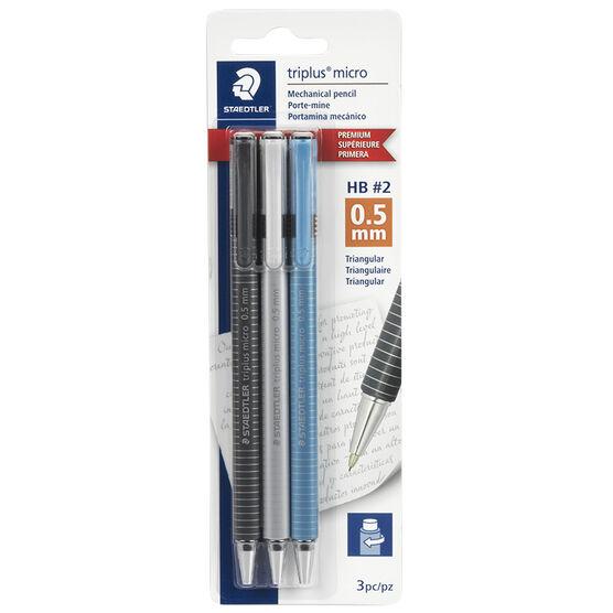Staedtler Triplus Micro Mechanical Pencil - 0.5mm - 3 Pack