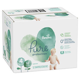 Pampers Pure Diapers - Size 4 - 52's