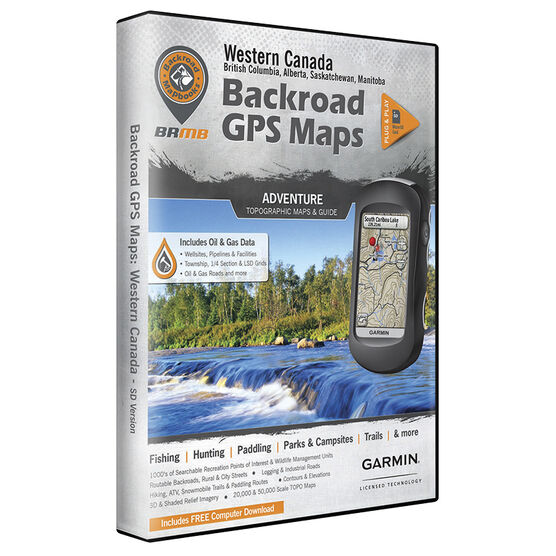 Backroad GPS Maps - Western Canada - 00891
