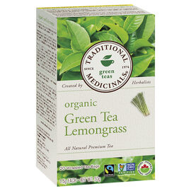 Traditional Medicinals Premium Tea - Green Tea with Lemongrass - 20's