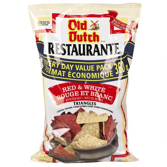 Restaurante Red and White Triangles Chips - Sea Salt - 360g