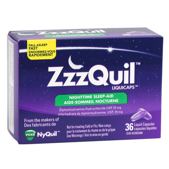 ZzzQuil Liquicaps Sleep-Aid - 36's