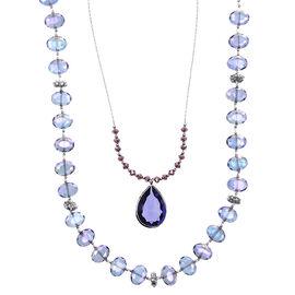 Lonna & Lilly Pendant Multi Layered Necklace - Purple